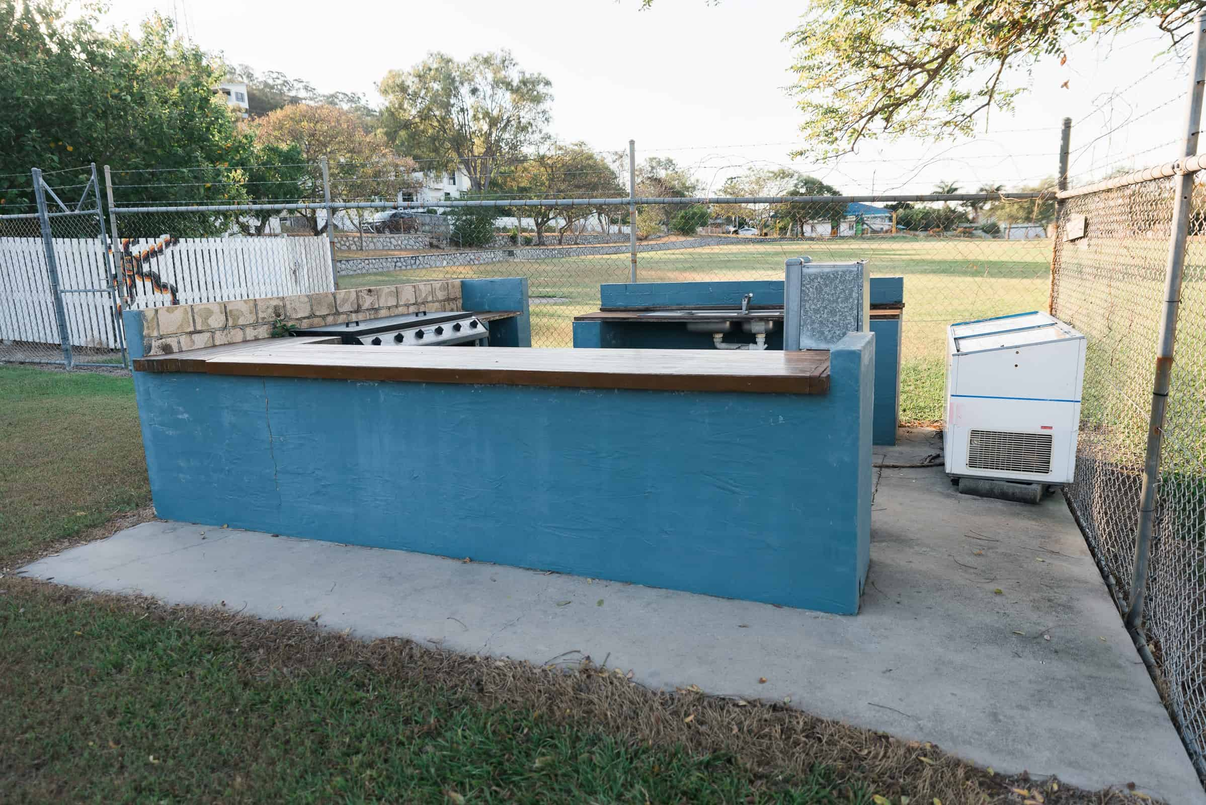 BBQ facilities at the Gladstone South Swimming Club