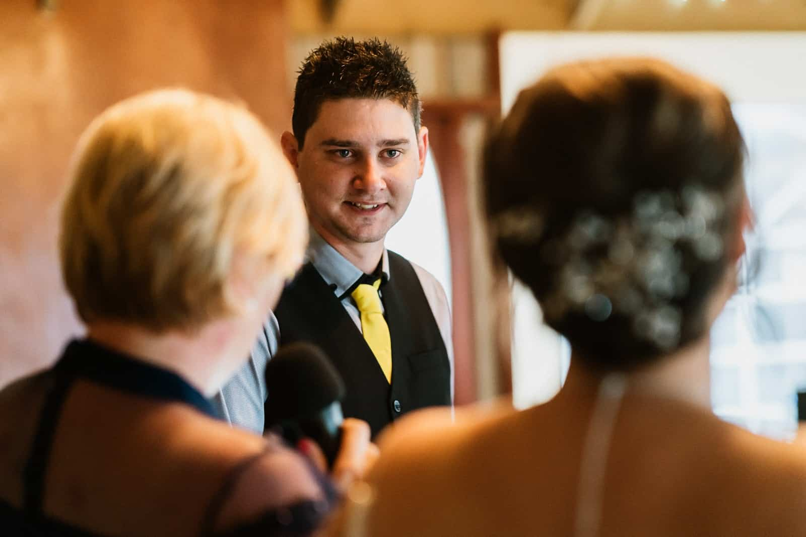 Groom during vows