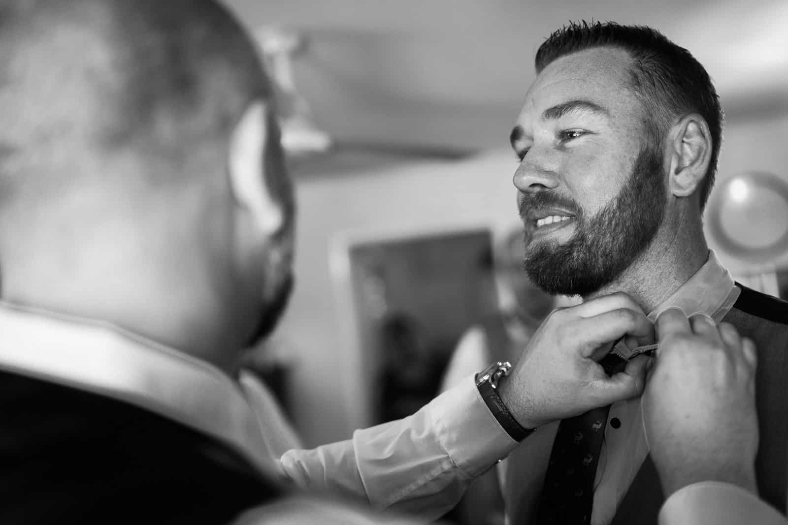 Groom preperations at Hervey Bay wedding