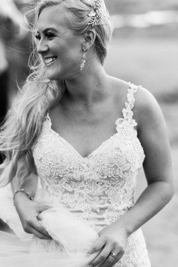 Black & White candid bridal portrait