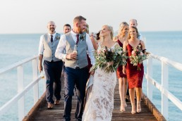 Bridal party on Hervey Bay pier