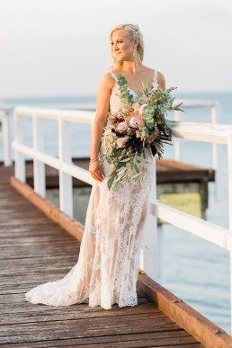 Bride on Hervey Bay pier