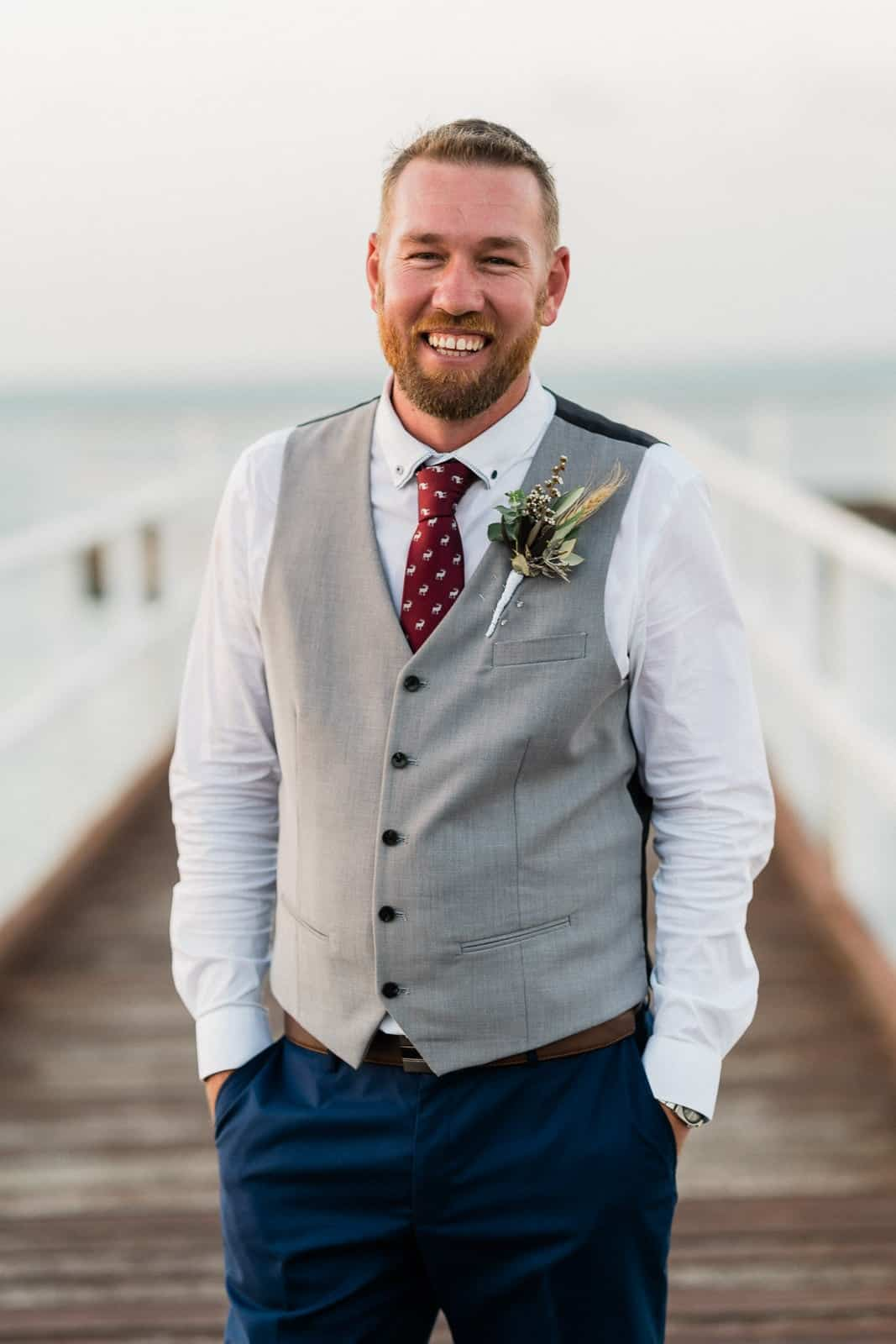 Groom on Hervey Bay pier