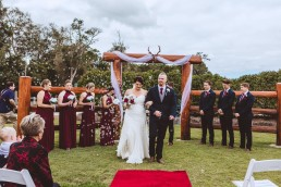 Wedding bubble exit