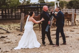 Father of the bride threatens groom