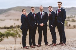Groom and groomsmen at Old Station