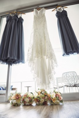 Dresses hanging at The Edge Apartments, Rockhampton