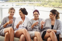 Bride and Bridesmaids at The Edge Apartments in Rockhampton